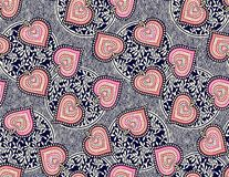Seamless traditional pattern with geometric background vector illustration