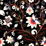 Seamless traditional russia or orient flower pattern.  ill Royalty Free Stock Photography