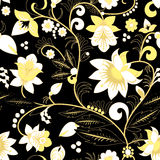 Seamless traditional russia or orient flower pattern.  ill Stock Photography