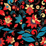 Seamless traditional russia or orient flower pattern.  ill Stock Photo