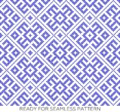 Seamless traditional Russian ornament.DISABLING LAYER, you can obtain seamless pattern.The pattern with blue circles. Pattern based on Traditional ethnic Stock Image
