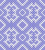 Seamless traditional Russian ornament.DISABLING LAYER, you can obtain seamless pattern.The pattern with blue circles. Pattern based on Traditional ethnic Stock Photography