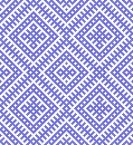 Seamless Traditional Russian and ornament made by circles in blue. Traditional ethnic Russian and slavic ornament.DISABLING LAYER, you can obtain seamless Stock Photos