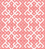 Seamless pattern based on traditional Russian and slavic ornament Stock Images