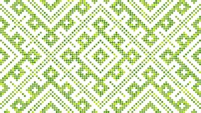 Seamless traditional Russian and slavic ornament.Four-color palette of lime in random order. Russian ethnic ornament.DISABLING LAYER, you can obtain seamless Stock Image