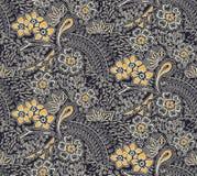 Seamless traditional silk design flower pattern background stock illustration