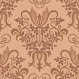 Seamless traditional vector wallpaper. Damask seamless pattern for design. Vector Illustration stock illustration
