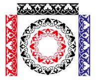 seamless traditionell uzbek för modell Vektor Illustrationer