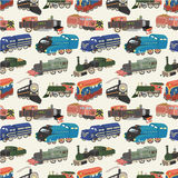 Seamless train pattern. Drawing Royalty Free Stock Images