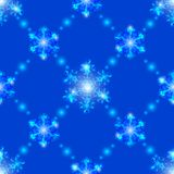 Seamless  transparent crystal snowflakes Stock Photography