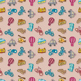 Seamless transport pattern Stock Photos