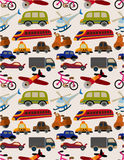 Seamless transport pattern. Vector drawing Stock Photo