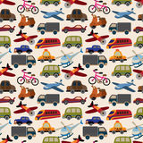 Seamless transport pattern. Vector,illustration Royalty Free Stock Photos