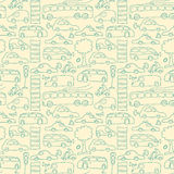 Seamless transport pattern Royalty Free Stock Images