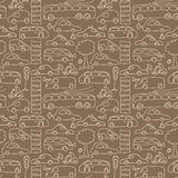 Seamless transport pattern Stock Photography