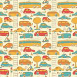 Seamless transport pattern Stock Images