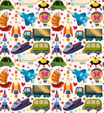 Seamless transport pattern Royalty Free Stock Photo