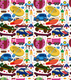 Seamless transport pattern Stock Image