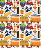 Seamless transport pattern. Cartoon vector illustration Royalty Free Stock Images