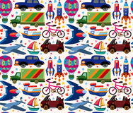Seamless transport pattern Royalty Free Stock Image
