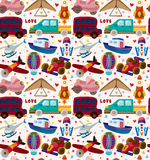 Seamless transport pattern Stock Photo