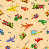 Seamless transport technique pattern Stock Images