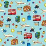 Seamless travel background. Royalty Free Stock Image