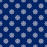 Seamless Travel Pattern with Boats Wheel Royalty Free Stock Photos