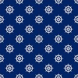 Seamless Travel Pattern with Boat`s Wheel. Seamless Travel Pattern with Ship`s Wheel , Marine Tourism Concept , Vector Illustration Stock Photos