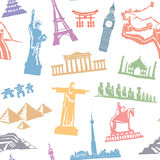 Seamless travel pattern Stock Image