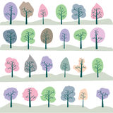 Seamless tree. Composition against white background Royalty Free Stock Images