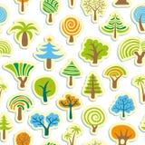 Seamless Tree Background Royalty Free Stock Photos