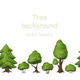 Seamless tree border. Vector forest background Royalty Free Stock Photography