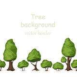 Seamless tree border 2. Seamless tree border. Vector forest background Stock Photos