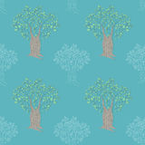Seamless Tree Illustration Stock Photos