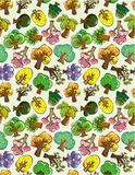 Seamless tree pattern Stock Photo
