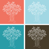 Seamless Tree Pattern Royalty Free Stock Photography