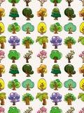 Seamless tree pattern Stock Photo