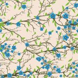 Seamless tree pattern. vector illustration