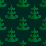 Seamless tree pattern. Flat designed christmas tree pattern Stock Images