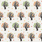 Seamless tree pattern with forest Royalty Free Stock Photos