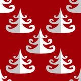 Seamless tree pattern. Seamless white christmas tree pattern Stock Photo