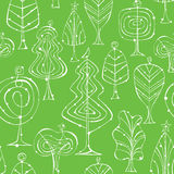 Seamless Tree Patterns Royalty Free Stock Photo