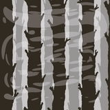 Seamless tree trunks in patchy fog Stock Photo