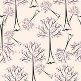 Seamless trees stock illustration