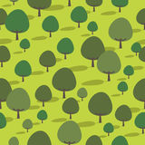 Seamless trees Stock Image