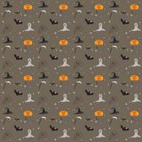 Seamless Trees halloween elements pattern background stock illustration