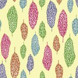 Seamless trees pattern Royalty Free Stock Photos