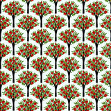 Seamless trees pattern Royalty Free Stock Image
