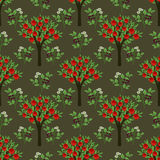 Seamless trees pattern Royalty Free Stock Photography